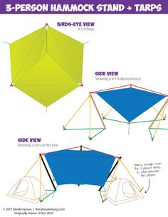 3-Person Hammock Stand - The Ultimate Hang