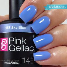 Pink Gellac Sky Blue at Chickettes.com