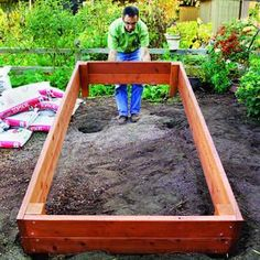 Raised garden bed inspiration. Plant more in a smaller space with raised beds. #garden #raisedbed #howto: