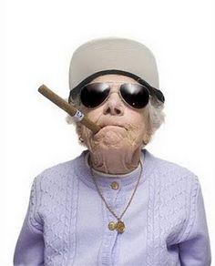 Gangsta old lady