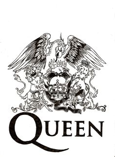 Want to design my own crest for a rib tattoo based on this as a template. Always loved Queen!
