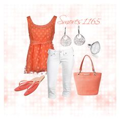 """Apricot"" by smores1165 ❤ liked on Polyvore featuring Blugirl Folies, True Religion, Betmar, Express and Ippolita"