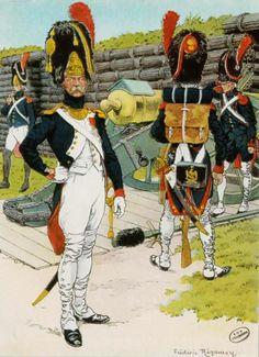Grenadiers etArtilleur 1809, par Frederic Regamey.