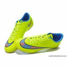 Nike Mercurial Victory V TF Fluorescent Yellow Blue Orange $61.99
