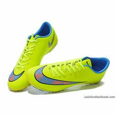 Nike Mercurial Victory V TF Fluorescent Yellow Blue Orange $61.99