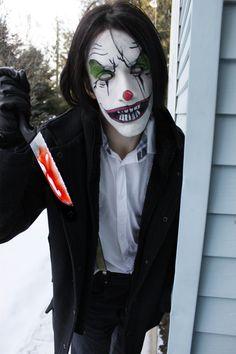 Evil clown makeup on deviantART
