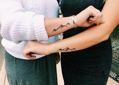 #tattoo #bestfriends #mountain #mountaintattoo