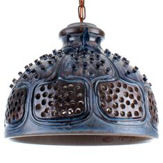 BLUE POTTERY pendant Jette Helleroe by DanishVintageDesigns