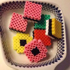 Haribo Konfekt hama beads by sidsling Hama Beads Design, Hama Beads Patterns, Beading Patterns, Bead Crafts, Diy And Crafts, Diy For Kids, Crafts For Kids, Hama Mini, 3d Perler Bead