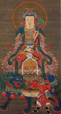 釈迦三尊像 文殊菩薩像 Ito Jakuchu