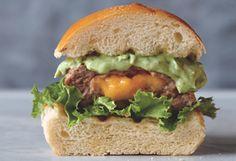 """Juicy Lucy"" stuffed turkey burger made with greek yogurt to prevent dryness"