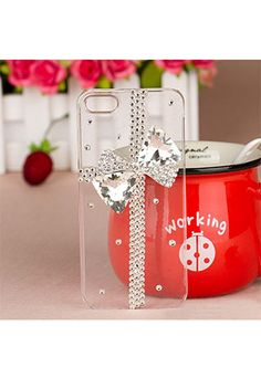 Color: crystal    Material:  Style: Sweet/Elegant  Fashion Element: Rhinestone Bowknot/Rhinestone Cross  This phone case fit for the iPhone4, iPhone4S, iPhone5.  Features the rhinestone design. Bling and fashion. The rhinestone bowknot and cross make it elegant and unique. To protect you...