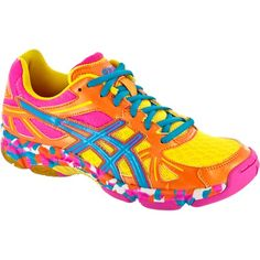 Asics Gel Flashpoint Women - Orange PInk Blue