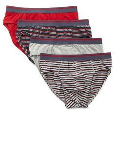 4 Pack New Red Stripe Slips - socks   underwear - Men ab4db3fdf7