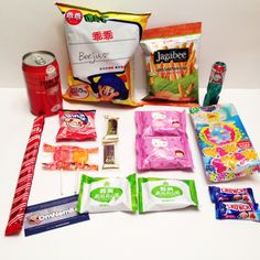 All our yummy March OmNomBox snacks!