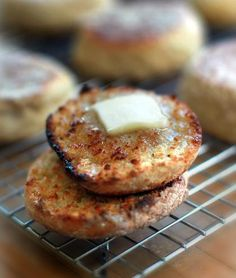 English muffins: a Downton Abbey favorite #baking #breakfast
