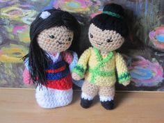 (4) Name: 'Crocheting : Mulan - Disney Princess - Bride Warrior
