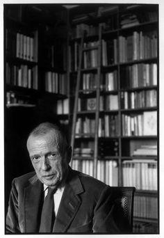Henri Cartier-Bresson // Paris. 1971. French writer and ethnologist, Michel LEIRIS.