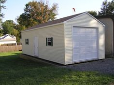 This customer had some large equipment he wanted to get out of the weather. No problem! We beefed up the floor to accomodate the weight, the raise the sidewalls and installed a higher garage door. Check out more at www.lappstructures.com/garages.