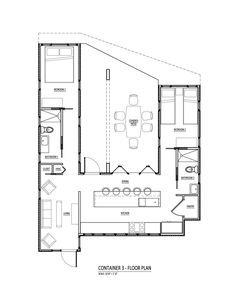 convert half-bath  2nd BR to Closet  Office. Closet in LR to storage/open selving  3 container u with courtyard
