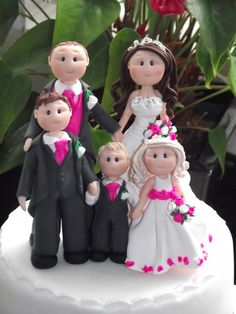 personalised cake toppers all made to look like your own hairstyles, outfits ect