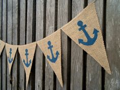 Ancla náutica bandera náutica bandera celebración por ViViCreative