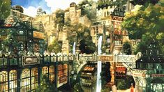 anime forest city Google Search Anime city Fantasy
