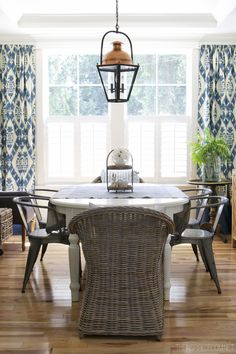 The Inspired Room Dining Room - Ikat Curtains