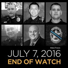 As always , my deepest heartfelt sympathy goes out to these Officers' families, friends and fellow Officers. RIP...BRENT THOMPSON, PATRICK ZAMARRIPA, MICHAEL SMITH, LORNE AHRENS, AND MICHAEL KROL.  GOD rest your souls .