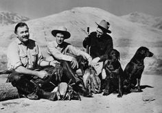 """Ernest Hemingway and friend Gary Cooper shooting and fishing around Sun Valley (and inviting Life Magazine to come along). Hemingway considered 'For Whom the Bell Tolls' the only successful Hollywood adaptation of his work (after seeing The Killers, he supposedly yelled """"Get me to the bathroom, I'm going to be sick!), in large part due to Cooper's work. """"You played Robert Jordan just the way I saw him,"""" Hem told Cooper, """"tough and determined. Thank you."""""""