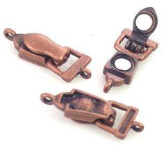 Antique Copper Single Strand Fold Over Clasp 7857 - mobileboutique