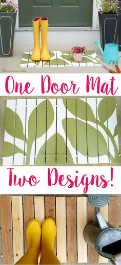 Bring Spring to your front porch with this EASY and beautiful doormat! ♥