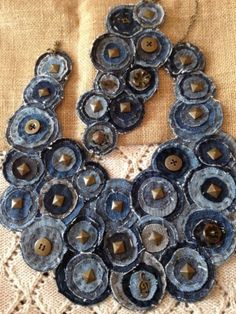 ooak-Studded-Denim-Jeans-Upcycled-Necklace-And-Bracalet-Antique-Gold-Harms