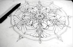 Mandala Design Development by Humna Mustafa, via Behance #art #mandala #decorativearts