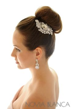 crystal comb and earrings by www.novia-blanca.pl  biżuteria ślubna NOVIA BLANCA