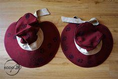Oscha Ladybug wrap scrap summer mommy and me hats made by KodoBa #Oscha #KodoBa #customorder #wrapscrap #summerhat