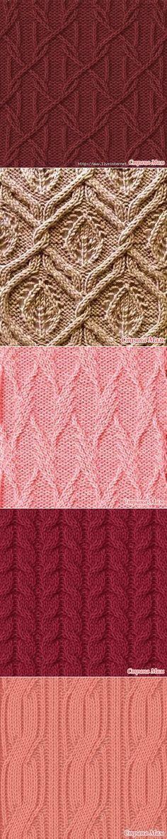 Подборочка узоров спицами - Вязание - Страна Мам