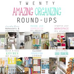 Are you looking for a plethora of Organizing Ideas and DIY's? Well this is the post for you! Over 300 ideas are waiting for you! Organizing is a snap!
