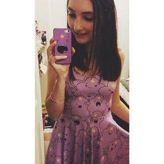 Black Milk Adventure Time Lumpy Space Princess Reversible Skater Dress