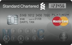 A MasterCard with an LCD display and touch-sensitive buttons