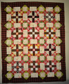 Pink C& Brown Quilt Top