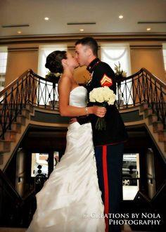 My marine wedding roses tiger hotel Columbia mo