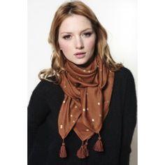 foulard Soja confetti brun   DES PETITS HAUTSpetit papa noel, si tu passes  par là! 04aaf288284