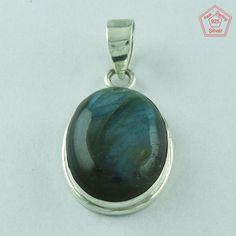 Attaractive _ 925 Real Sterling Silver Labradorite Pendant Jewelry P2524 #SilvexImagesIndiaPvtLtd #Pendant