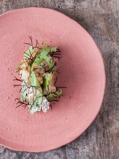 Central, Lima, Peru - Conchas y lechuga, or mussels and lettuce, by Chef Virgilio Martinez.