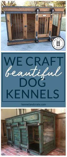 Designer indoor single or double dog kennels! Replace your wire dog crate with a beautiful piece of functional furniture! Great conversation piece! #Kennelandcrate  #Customorders #Stylishdogkennel #dogkennel #Dog