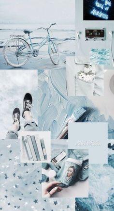 ideas for pastel blue aesthetic wallpaper iphone Blue Aesthetic Pastel, Aesthetic Pastel Wallpaper, Aesthetic Colors, Aesthetic Collage, Aesthetic Backgrounds, Trendy Wallpaper, Blue Backgrounds, Aesthetic Wallpapers, Fashion Wallpaper