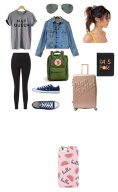 """""""Travel look"""" by lorena-246 on Polyvore featuring Miss Selfridge, Levi's, Converse, Fjällräven, Ray-Ban, MACBETH, Lizzie Fortunato and Forever 21"""