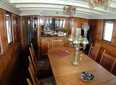 1893 Union Iron Works Classic Fantail Pilothouse Power Boat For Sale -