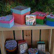Hand-painted keepsake boxes detailed with a by PyroBoxes on Etsy